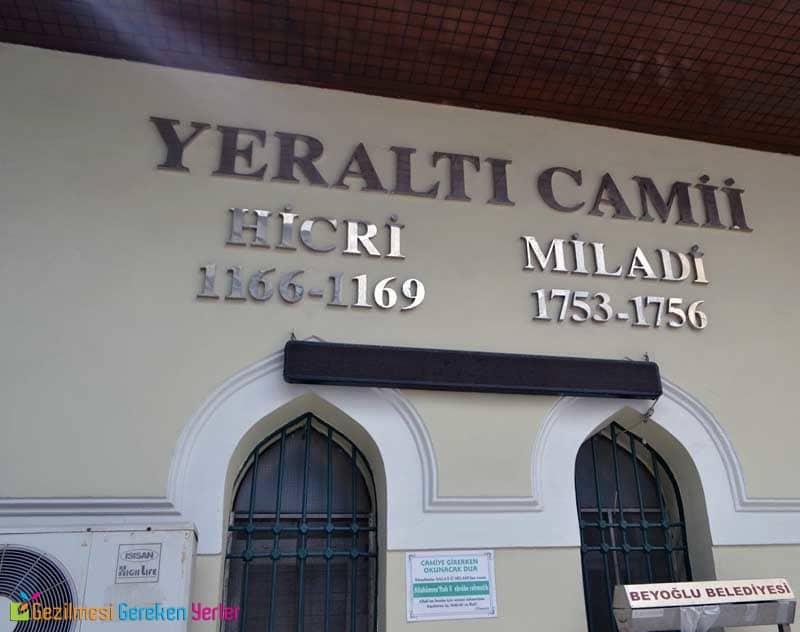 Yeraltı Cami - Beyoğlu